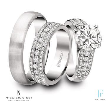 description precision set platinum. celtic patterned platinum